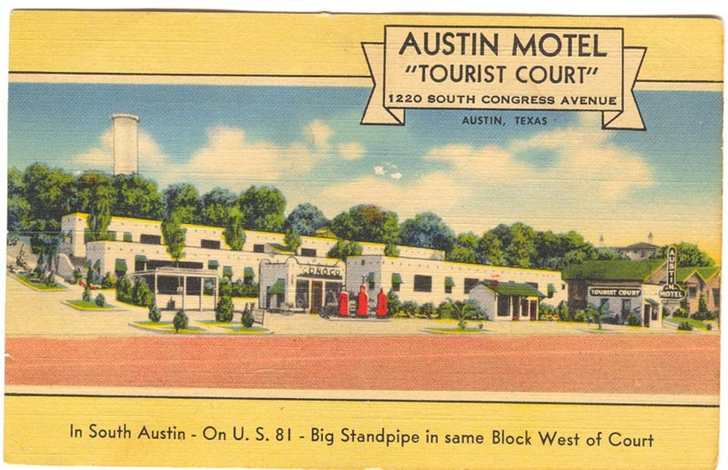 A vintage tourism poster for the Austin Motel