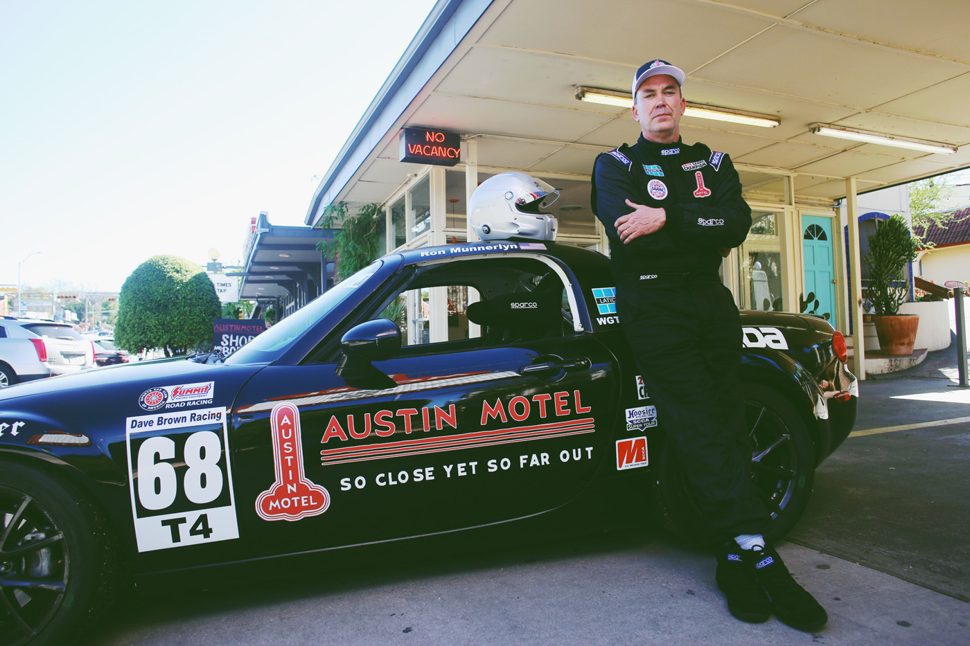 Ron Munnerlyn: Official Race Car Driver of the Austin Motel and Honorary Local